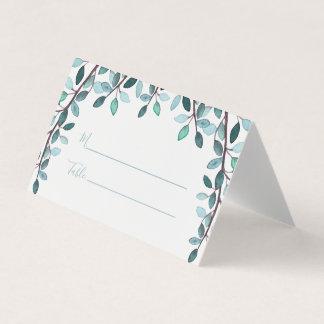 A aguarela sae de cartões do lugar do casamento do