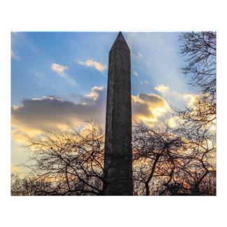 A agulha/Obelisk de Cleopatra no Central Park Impressão De Foto
