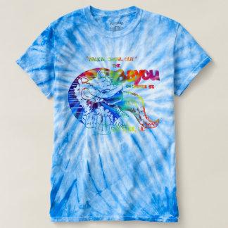 A albufeira - camisa do azul da tintura do laço do