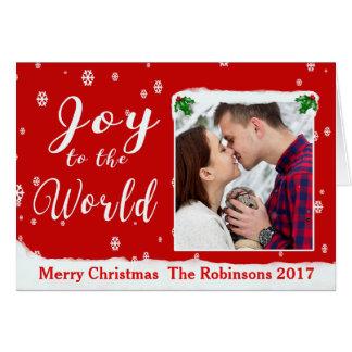 A alegria ao mundo personaliza o cartão do quadro