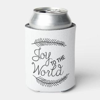A alegria ao mundo pode refrigerador porta-lata