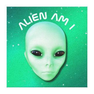 A alienígena é mim esverdeia a cara estrangeira
