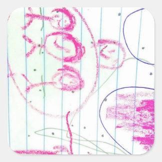 A alma de uma criança adesivo quadrado
