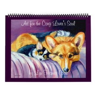 A alma do amante do Corgi do calendário do Corgi