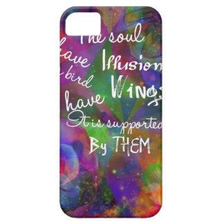 A alma tem as asas como o pássaro capa barely there para iPhone 5