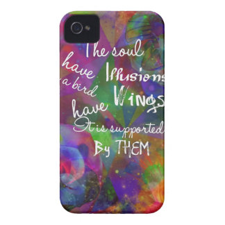 A alma tem as asas como o pássaro capa para iPhone 4 Case-Mate