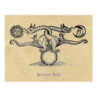 A alquimia do pássaro de Hermes Cartão Postal