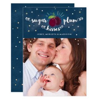 A ameixa do açúcar beija o cartão w/envelope