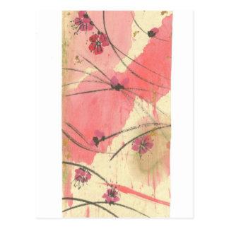 A ameixa floresce cartão longo