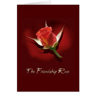 A amizade aumentou cartão comemorativo