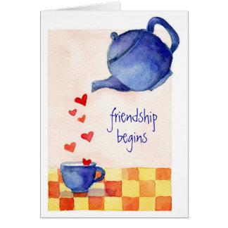 A amizade começa - o cartão