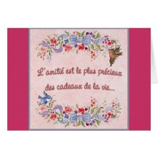 A amizade é a maioria de precioso cartão comemorativo