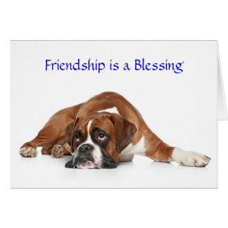 A amizade é um cartão do pugilista da bênção