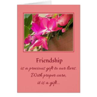 A amizade é um presente precioso… cartão comemorativo