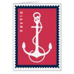 A âncora do navio náutico - marinheiro do barco do cartao