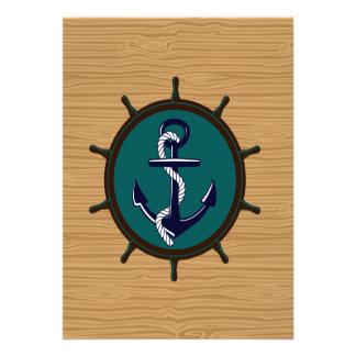 A âncora náutica envia o design do marinheiro do l