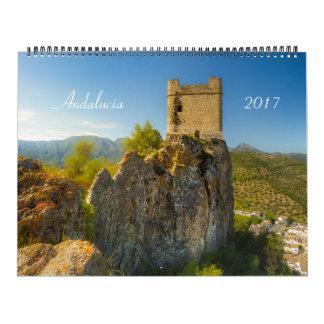A Andaluzia, calendário 2017 da espanha