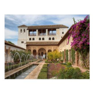 A Andaluzia - Generalife do cartão de Alhambra Cartão Postal