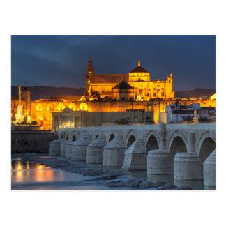A Andaluzia - Mezquita no cartão do por do sol