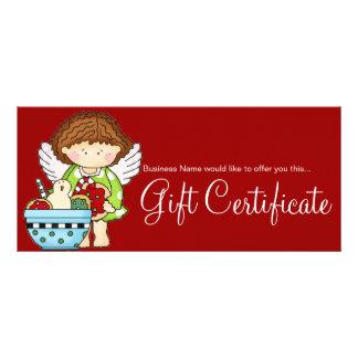 A angélica ama o certificado de presente dos bisco panfleto personalizado