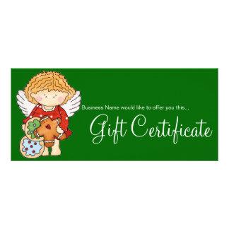 A angélica ama o certificado de presente dos bisco modelo de panfleto informativo