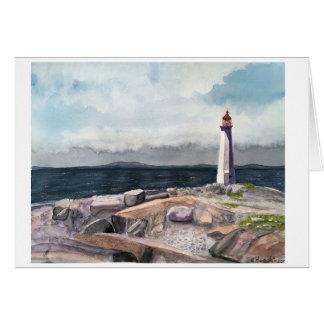 A angra de Peggy, cartão de Nova Escócia Canadá