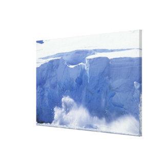 A Antártica, baía do paraíso, formulários de onda  Impressão Em Tela