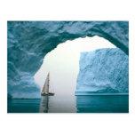 A Antártica de cruzamento Cartoes Postais