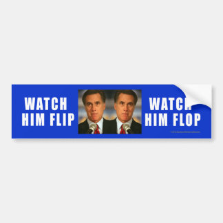 A Anti-Romney etiqueta olha-o Flip-Flop Adesivo Para Carro