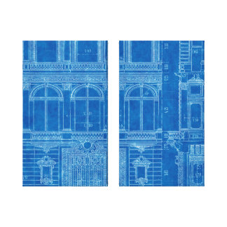 """A antiguidade """"azul de sentimento"""" imprime a arte  impressão de canvas envolvida"""