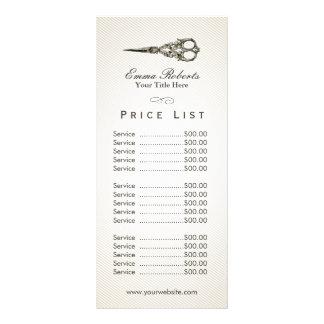 A antiguidade da tabela de preços | Scissor o 10.16 X 22.86cm Panfleto