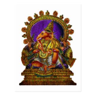 A antiguidade   de Ganesha Deva faz seu próprio Cartão Postal