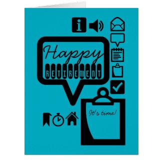A aposentadoria feliz 3 é cartão grande do tempo