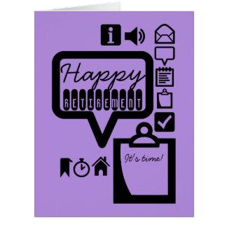 A aposentadoria feliz 4 é cartão grande do tempo