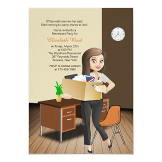 A aposentadoria fêmea do empregado do convites