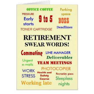 A aposentadoria jura palavras! - Adicione uma imag Cartoes