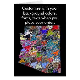 A arizona personaliza o cartão colorido como você