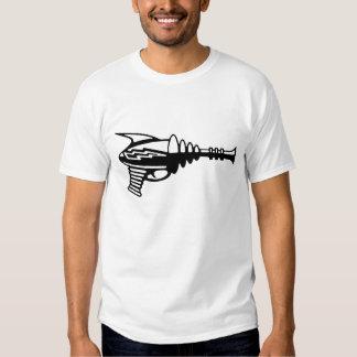 A arma de raio retro do laser para a ficção camiseta
