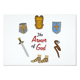 A armadura do deus convite 8.89 x 12.7cm
