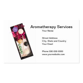 A aromaterapia presta serviços de manutenção ao cartão de visita