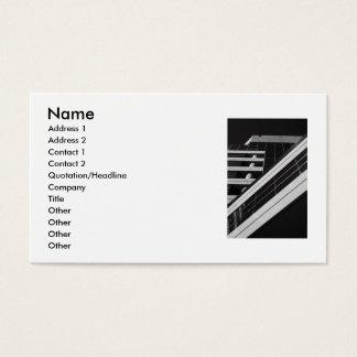 A arquitetura detalha o cartão de visita