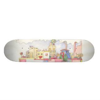 A arquitetura é plataforma do sonho do shape de skate 19,7cm