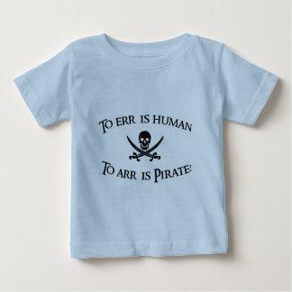 A Arr é o pirata! Camiseta Para Bebê