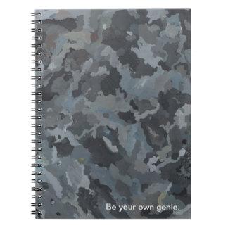 A arte abstracta balança o caderno inspirado de