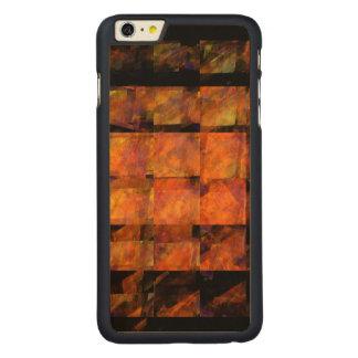 A arte abstracta da parede capa para iPhone 6 plus de carvalho, carved®