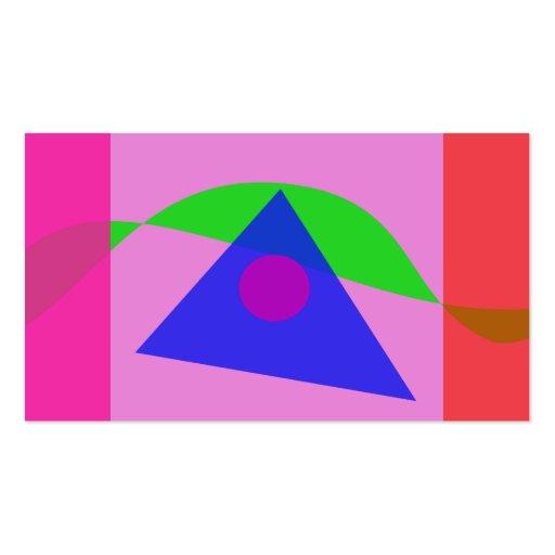 A arte abstracta geométrica a mais simples cartão de visita