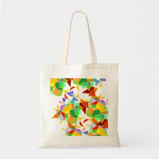 A arte abstracta moderna colorida vai sobre saco bolsa para compra