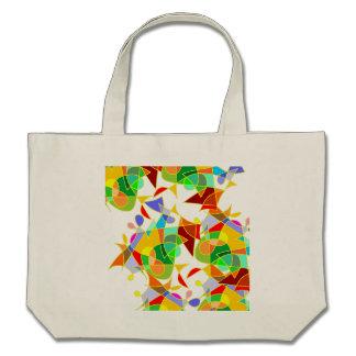 A arte abstracta moderna colorida vai sobre saco v bolsa para compra