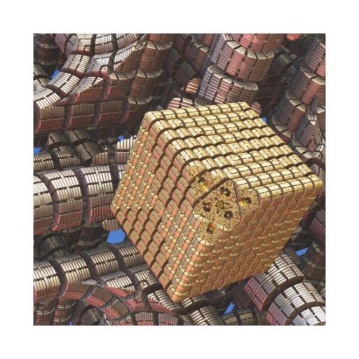 A arte abstrata A do fractal 3 d vê no futuro Impressão Em Canvas