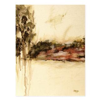A arte abstrata ambígua da paisagem goteja a cartão postal
